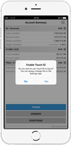 Saxo Bank_Touch ID